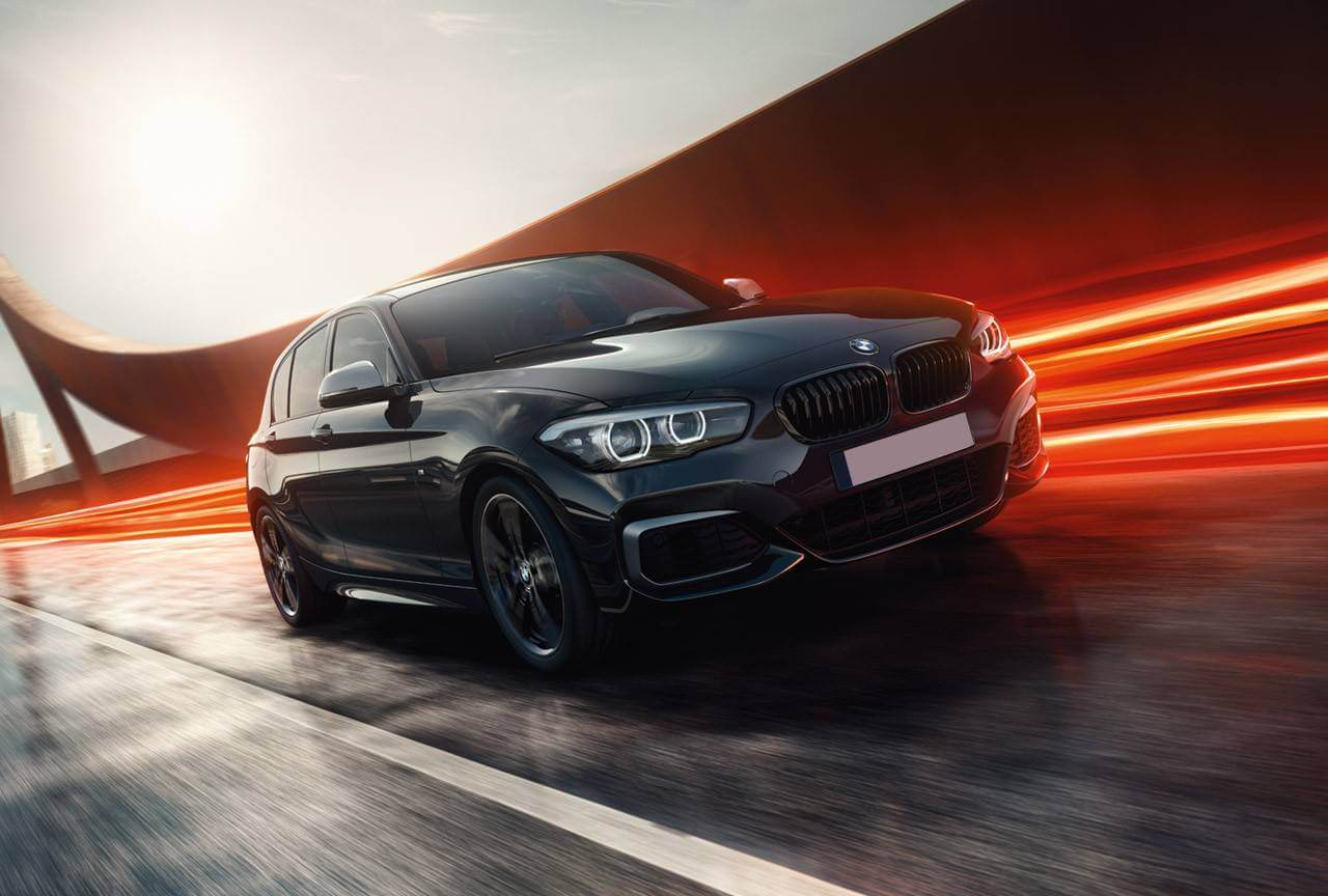 BMW 1 Series M140i in black