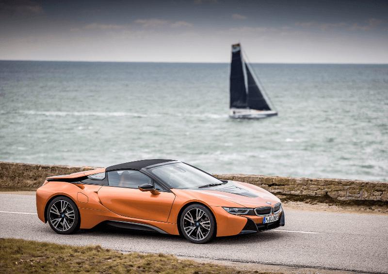 BMW i8 roadster orange