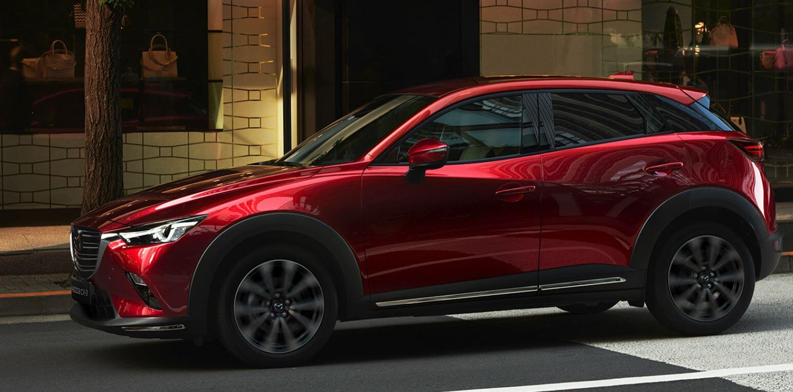 Side view of Mazda CX-3