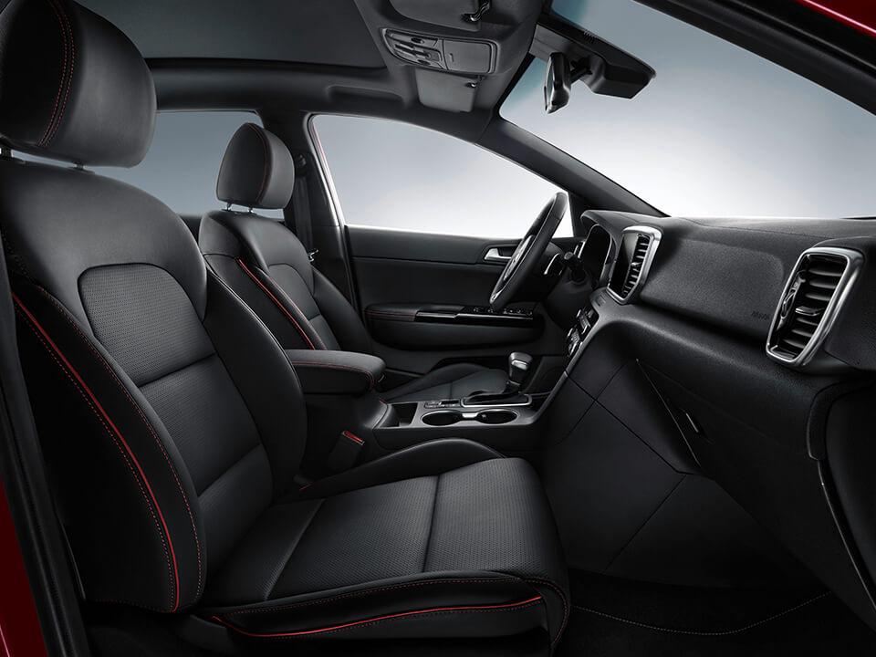 Kia Sportage red and black interior