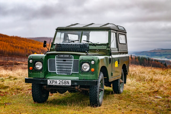 Land Rover in the countryside