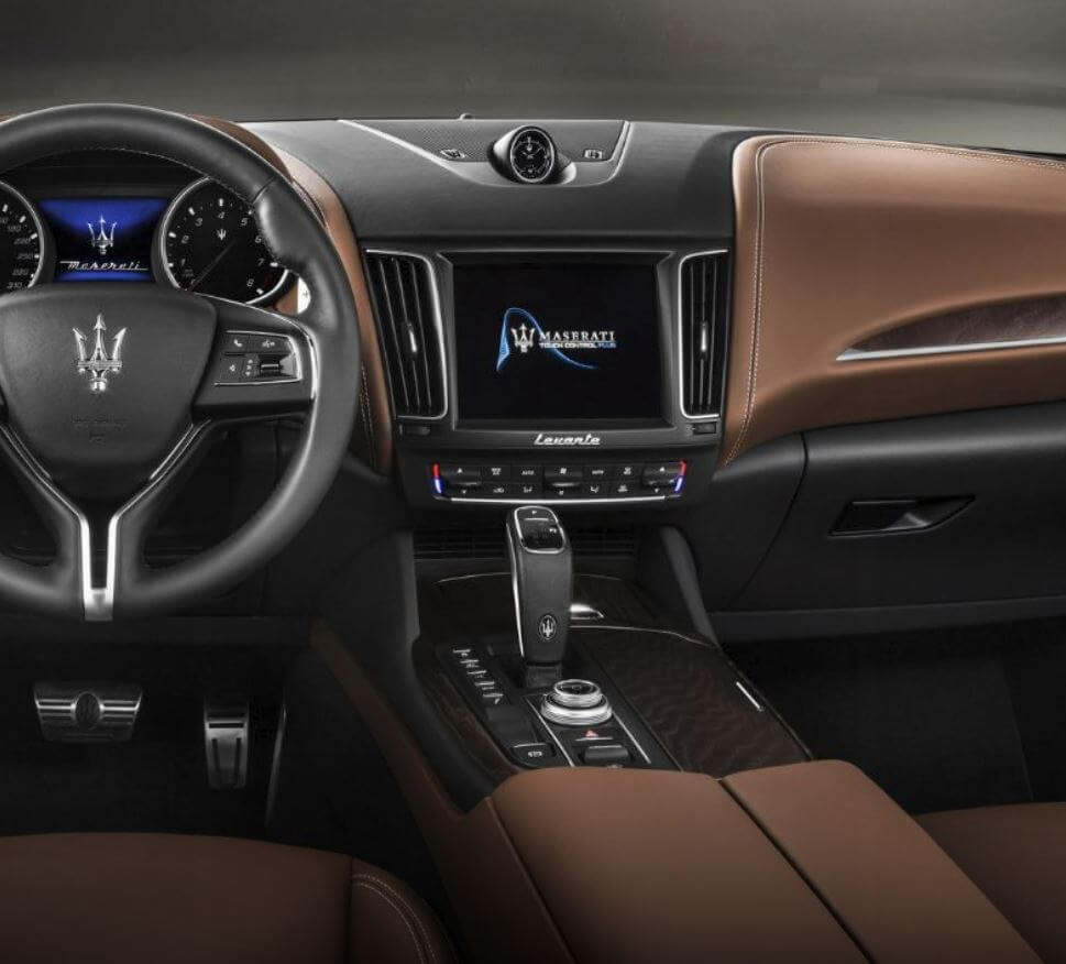 Maserati Levante leather interior