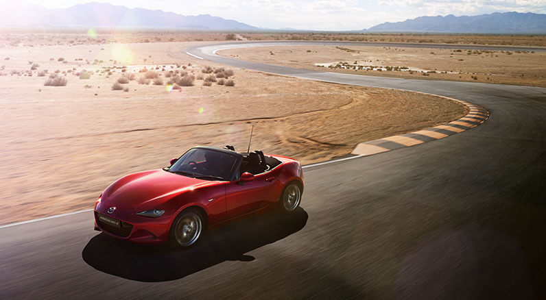 Mazda MX-5 in red