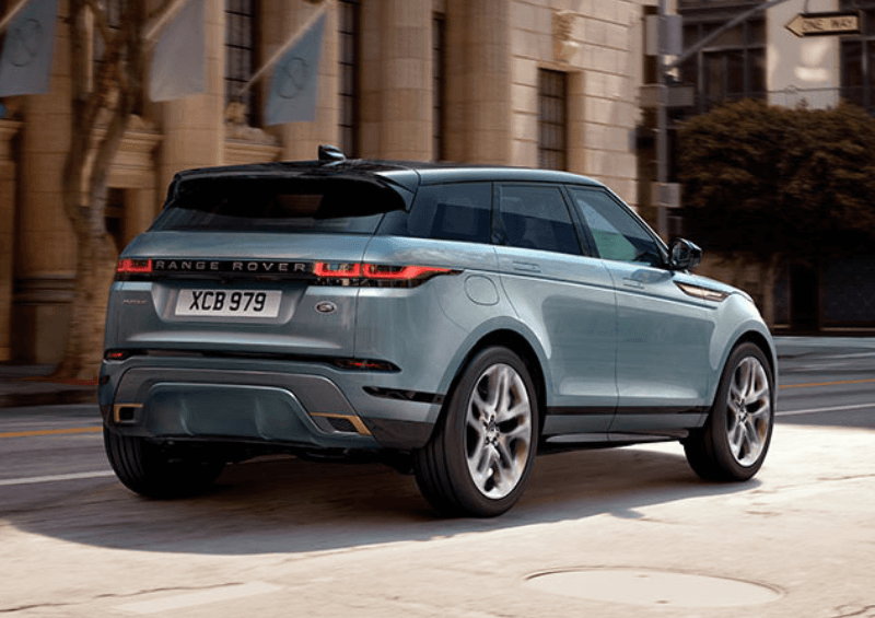 Rear-view camera on the new Evoque
