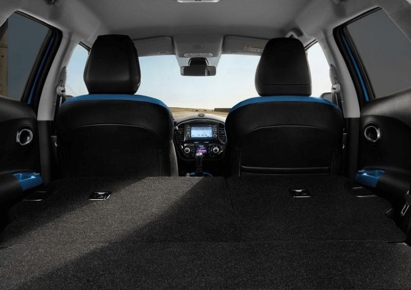 Nissan Juke seats folded down
