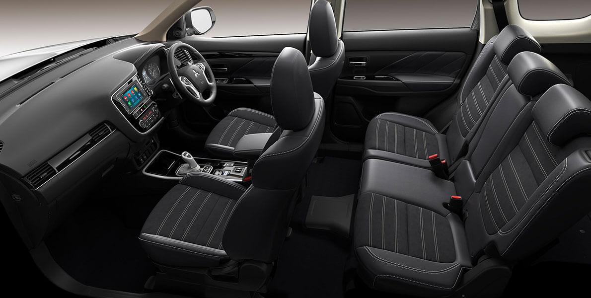 Outlander PHEV Interior and back seats