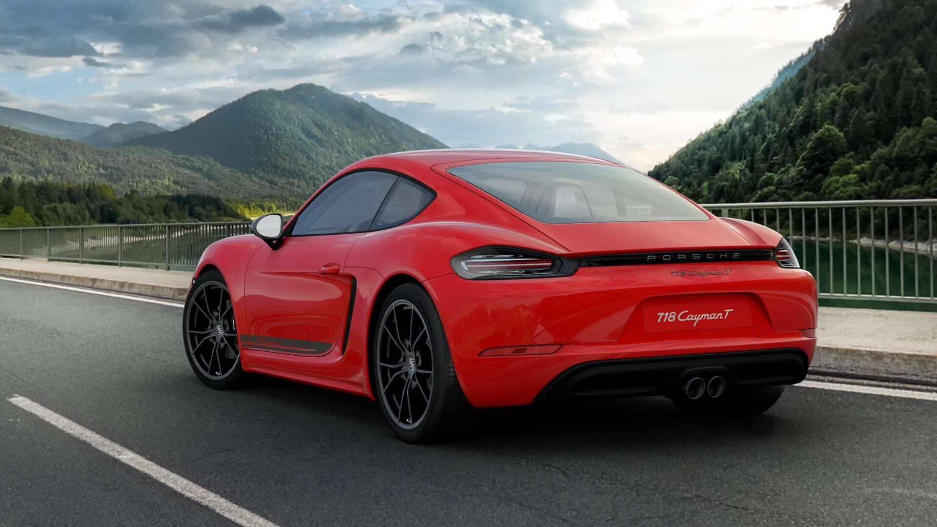 Porsche 718 Cayman T rear