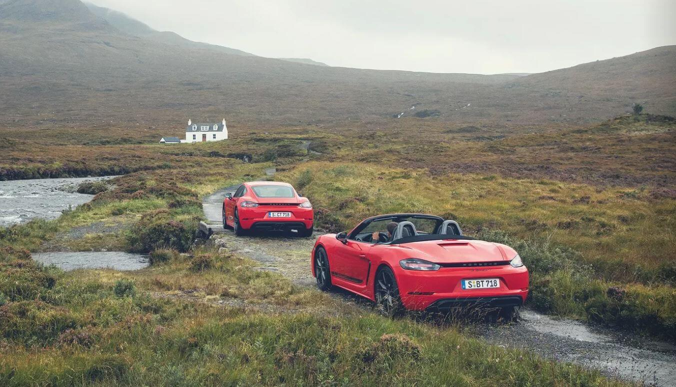 Porsche 718 Cayman T coupe and boxter