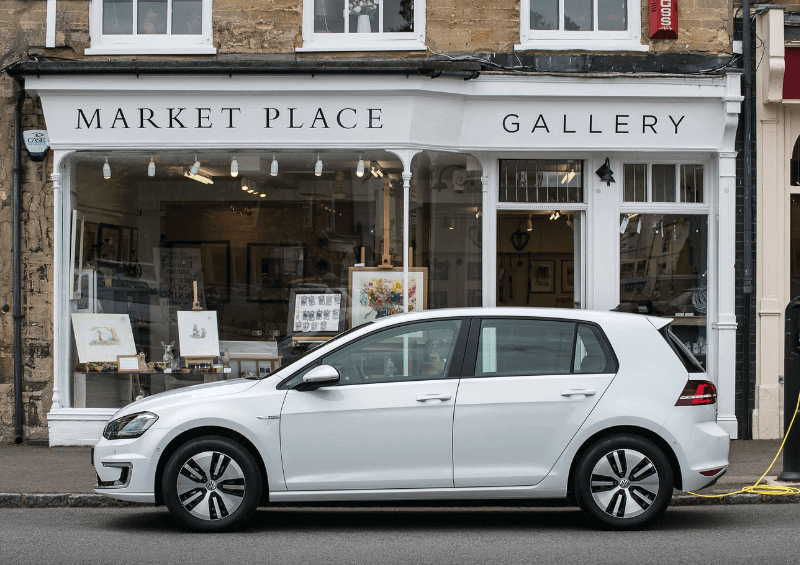 VW E-Golf charging point