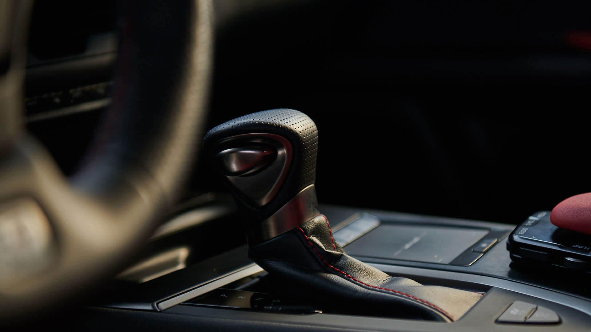 Lexus UX gear stick