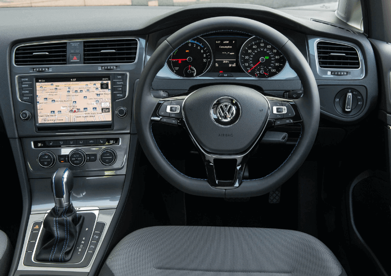 VW E-Golf dashboard