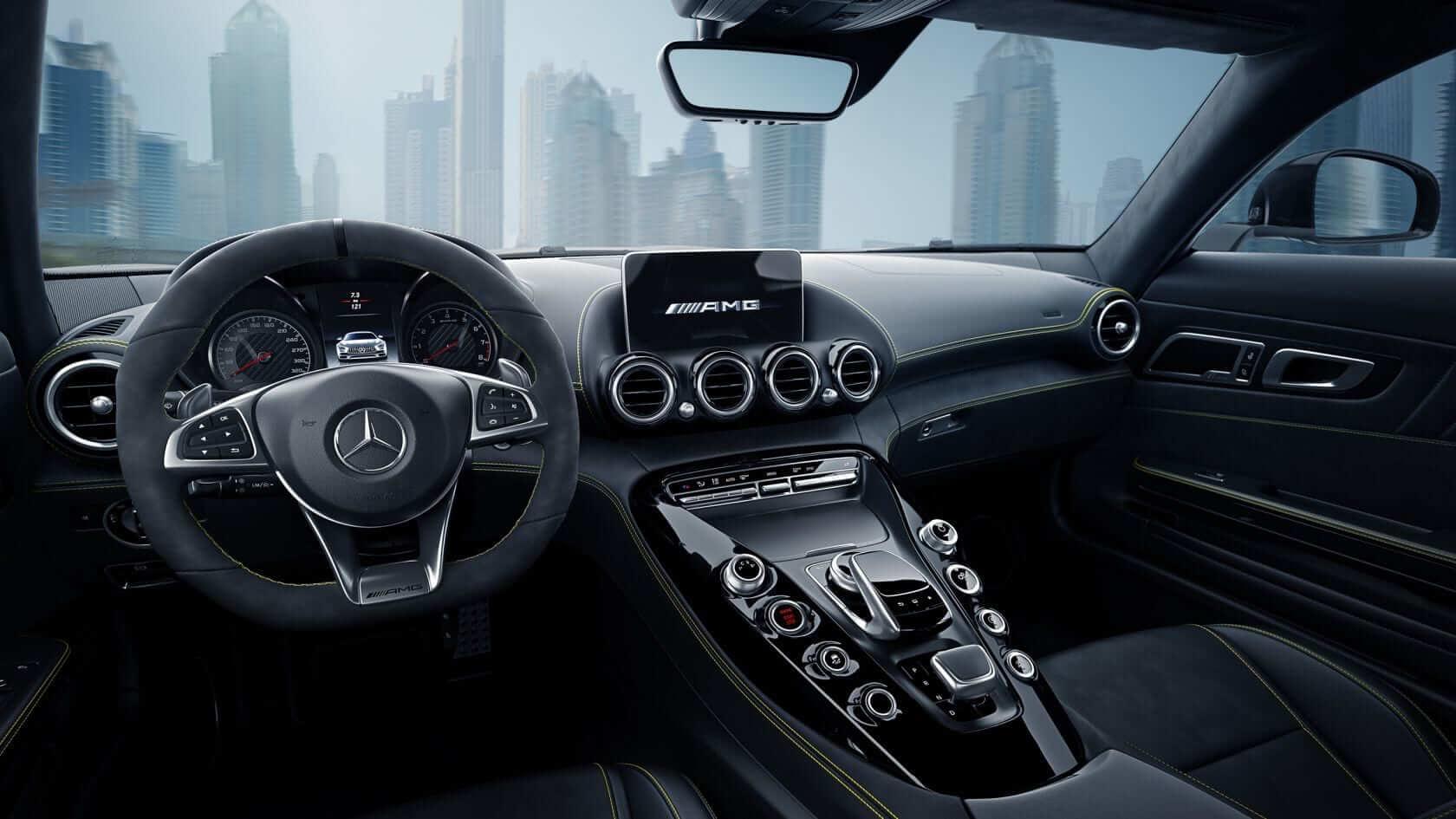 Mercedes AMG GT dashboard