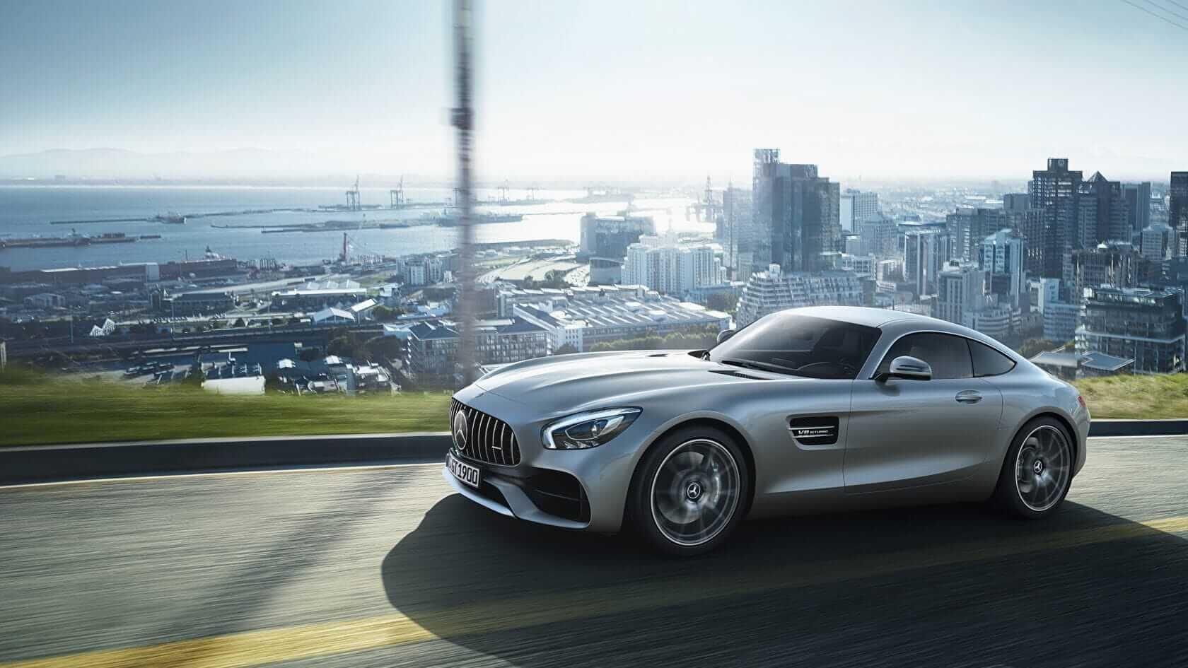Mercedes AMG GT silver