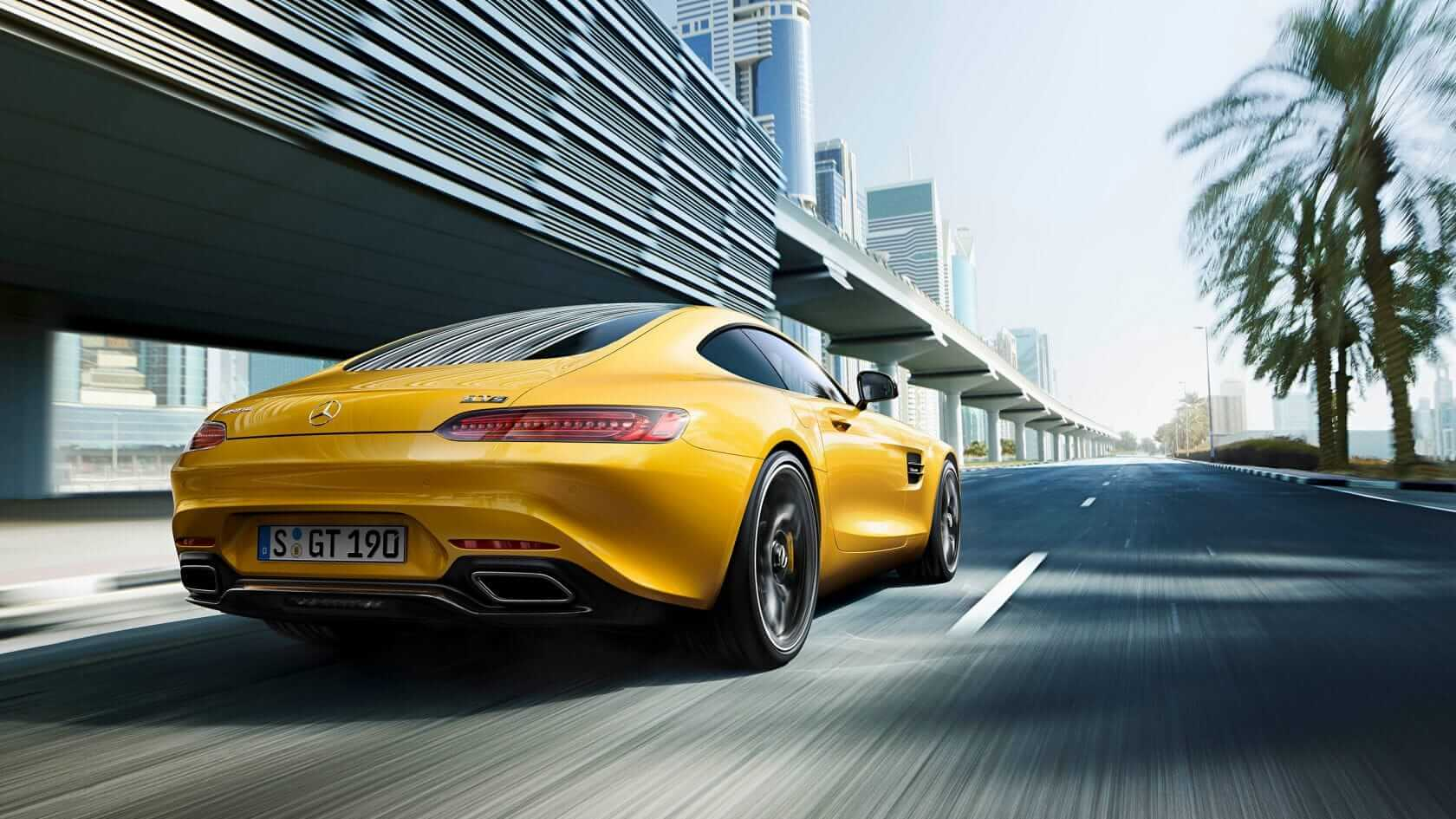 Mercedes AMG GT S rear view