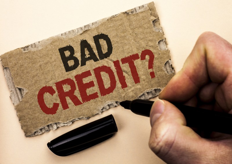 Bad Credit written on card