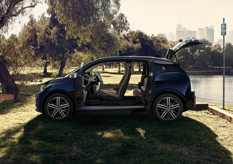 BMW i3 in park
