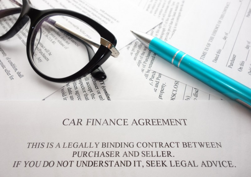 Car finance agreement contract