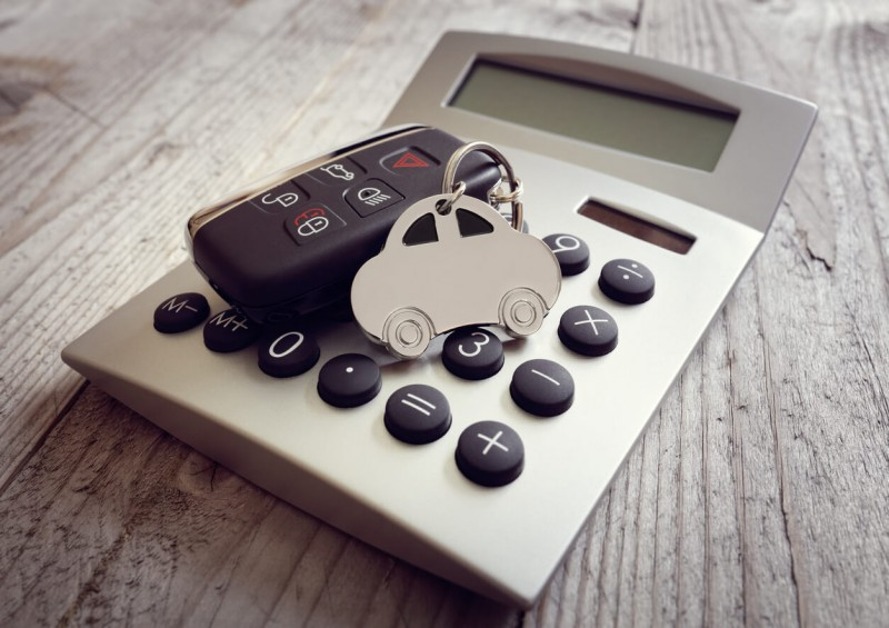 Car keys and calculator