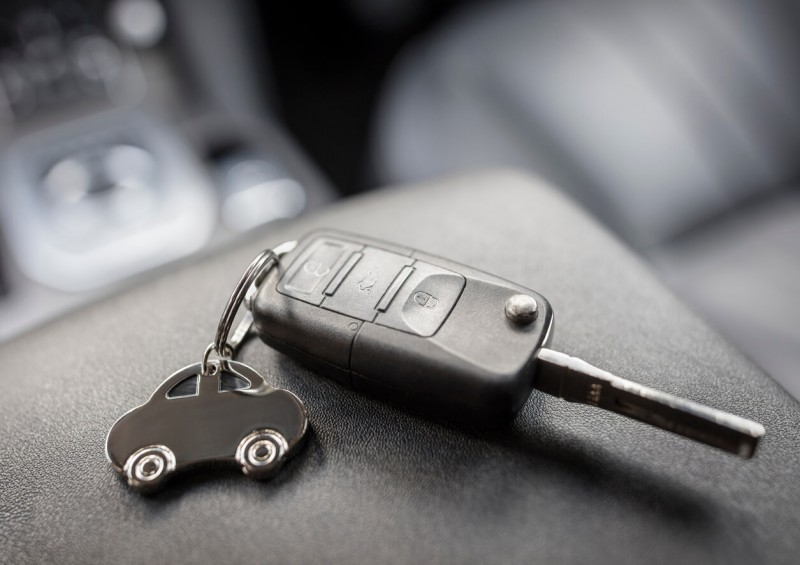 Car keys with key ring