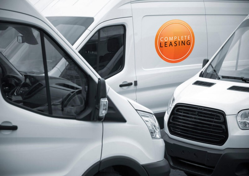 Complete Leasing logo on brand new van