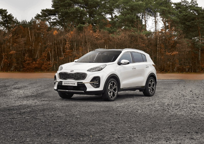 New Kia Sportage in white