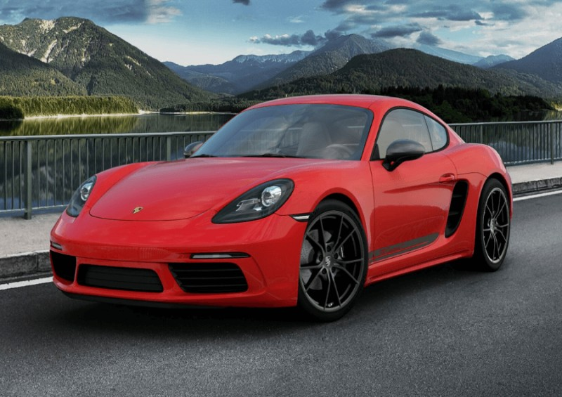 New Porsche 718 Cayman in red