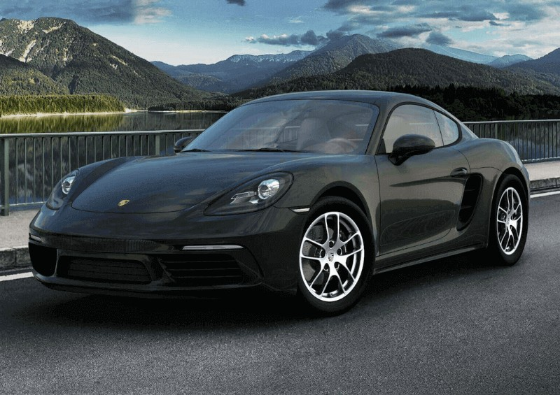Porsche 718 Cayman in black