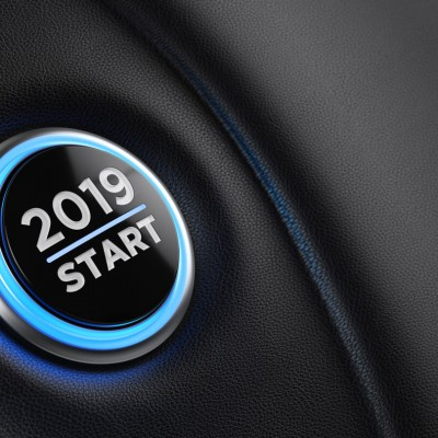 2019 start button in car