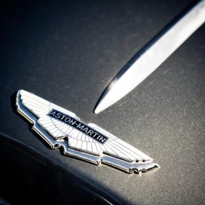 Aston Martin logo on car
