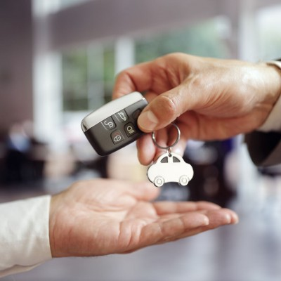 Car keys being given to customer