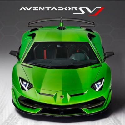 New Lamborghini Aventador SVJ green